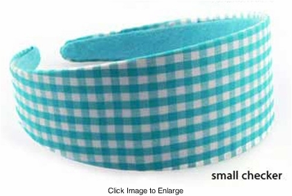 Blue and White Checker Headband