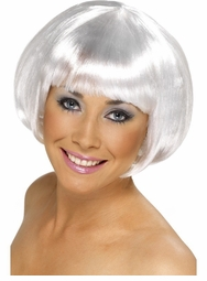 Space Ranger Short White Bob Wig