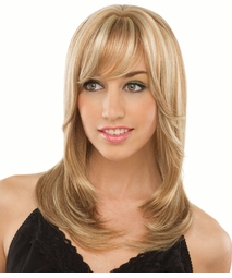 Long Tapered Wig with Bangs