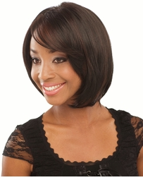 Smooth Bob Wig with Bangs