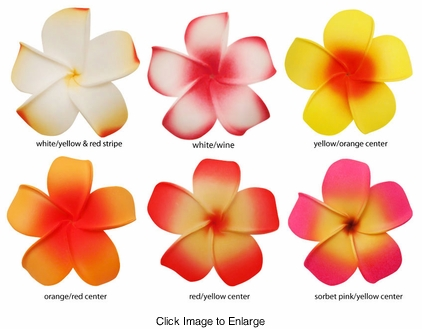 """2.5"""" Classic Hawaiian Flower Hair Clip (available in 6 bright colors)"""