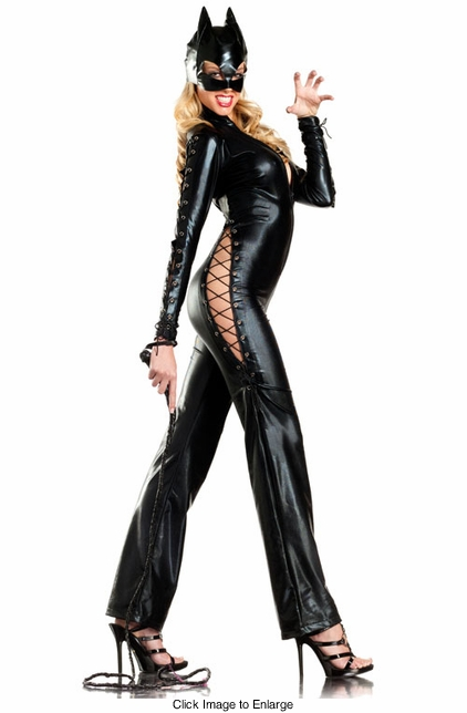3-Piece Catwoman Catsuit Costume