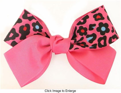 "4"" Wide Ribbon Bow Hair Clip"