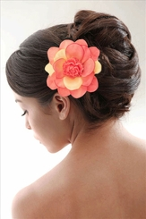 "3.5"" Flower with Flower Center Hair Clip"