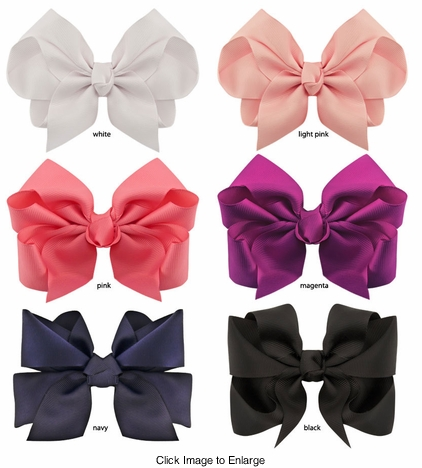 "4.5"" Ribbon Bow Hair Clip"
