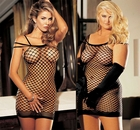 Power Net Strappy Mini Dress