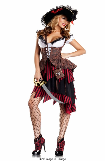 3-Piece Pirate Pin-Up Costume