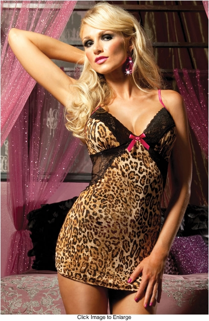 Leopard and Lace Mini Dress