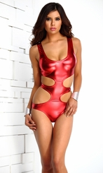 Metallic Strappy Monokini
