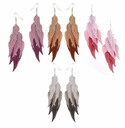 "5"" Graduated Color Wing Dangle Earrings"