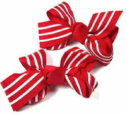 "2.5"" Pair of Ribbon Hair Clips"