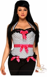 Rockabilly Polka Dot Corset Top
