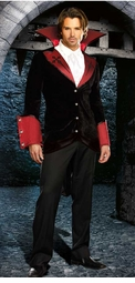 Light Up Cross Vampire Costume for Men