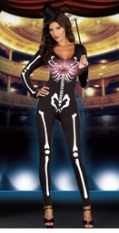 Skeleton Diva Costume with Light Up Heart
