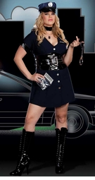 Plus Size 9-Piece Corrupt Cop Costume