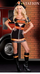 Smokin' Hot Fire Fighter Babe Costume