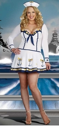 Plus Size 3-Piece Anchor Sailor Costume