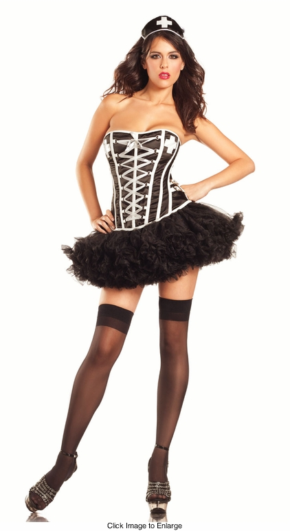 Corset 3-Piece Wicked Nurse Costume