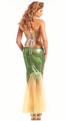 2-Piece Gold Corset Mermaid Costume