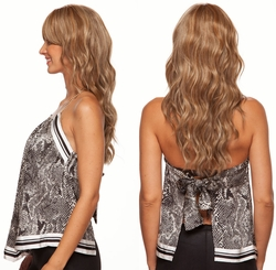 Lace Front Wig With Long Water Curls and Long Bangs