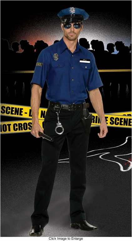 Police Officer Cop Costume for Men