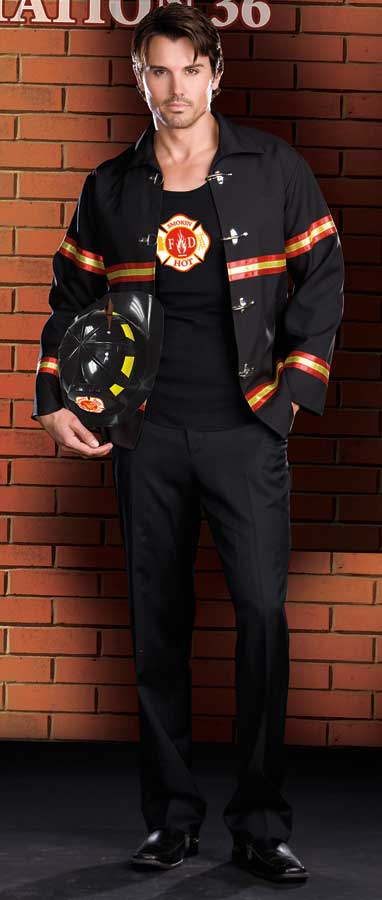 3-Piece Fireman Costume for Men