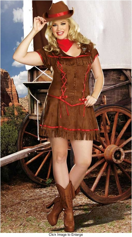 Plus Size Giddy Up! Cowgirl Costume
