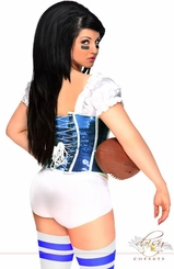 2-Piece Blue Football Fantasy Corset Costume