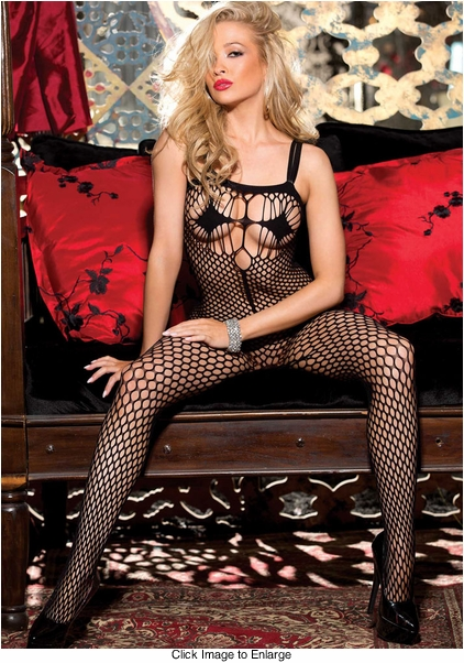 Strappy Large Net Bodystocking