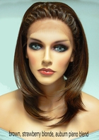 Heat & Styling Friendly Lace Front Wig- Braided Front, Shoulder Length