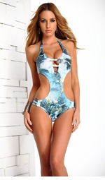 Galaxy Monokini with Strappy Sides