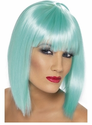Light Blue Glamour Bob Wig