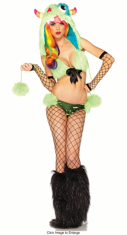 3-Piece Techno Monster Star Costume