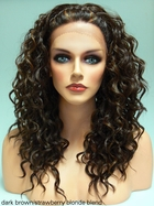 Heat and Styling Friendly Lace Front Wig with Braided Front and Curls