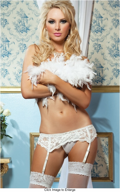 Premuim Lace Garter Belt with Adjustable Back