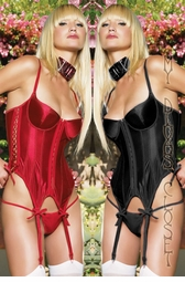 Satin Corset with Lace Up Sides