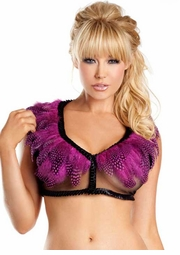 Hot Pink Polka Dot Feather Top