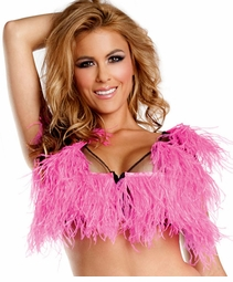 Hot Pink Ostrich Feather Top