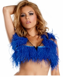 Royal Blue Ostrich Feather Top