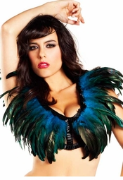 Rio Dancer Feather Top in Turquoise