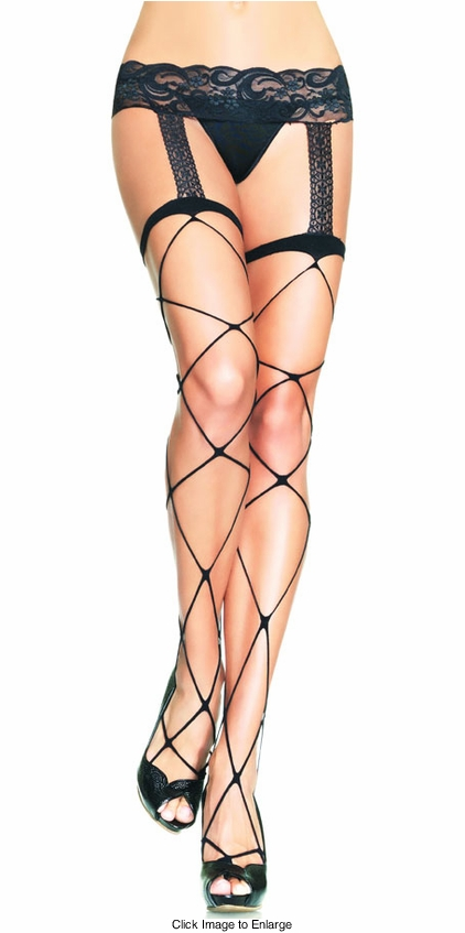 Jumbo Net Garter Stockings