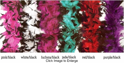 Costumes-Luxe Highest Quality Two-Tone Feather Boa