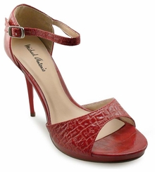 "4.15"" Textured Exotic Skin Sandals ""Colleen"" from Michael Antonio"