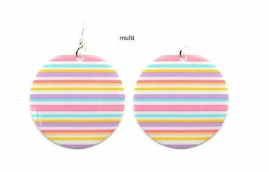 "2"" Wide Stripe Mod Earrings"