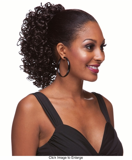 Glossy Spiral Curls Draw String Hair Piece