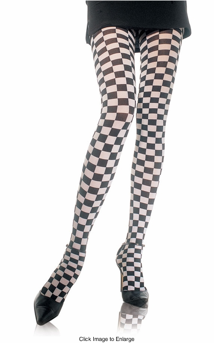 Checkered Opaque Tights