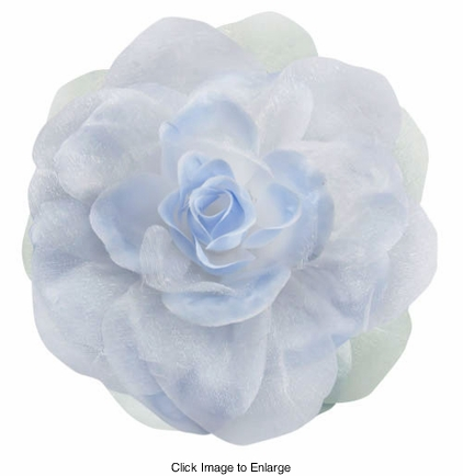 "4"" Silky Flower Hair Clip with Chiffon Layer"
