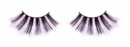 Super Long Pink and Black Lashes