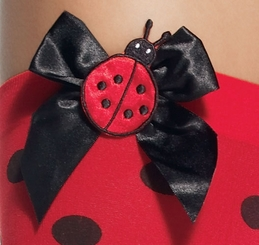 Opaque Polka Dot Lady Bug Stockings