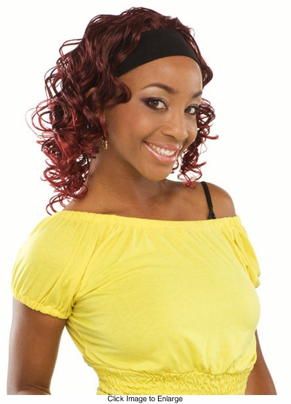 Bouncy Curl 3/4 Wig with Headband